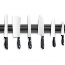 variety kitchen knives with black handle magnetic strip white background 3d vector illustration 1284 18018 1variety kitchen knives with black handle magnetic strip white background 3d vector illustration 1284 18018 1
